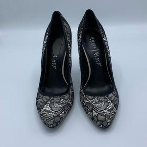 White House Black Market black lace shoes